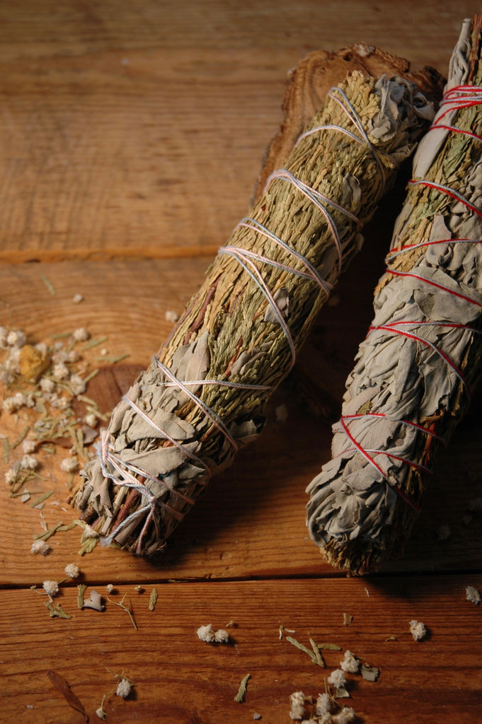 Large Sage & Cedar Smudge Sticks - Moon.Flower.Child