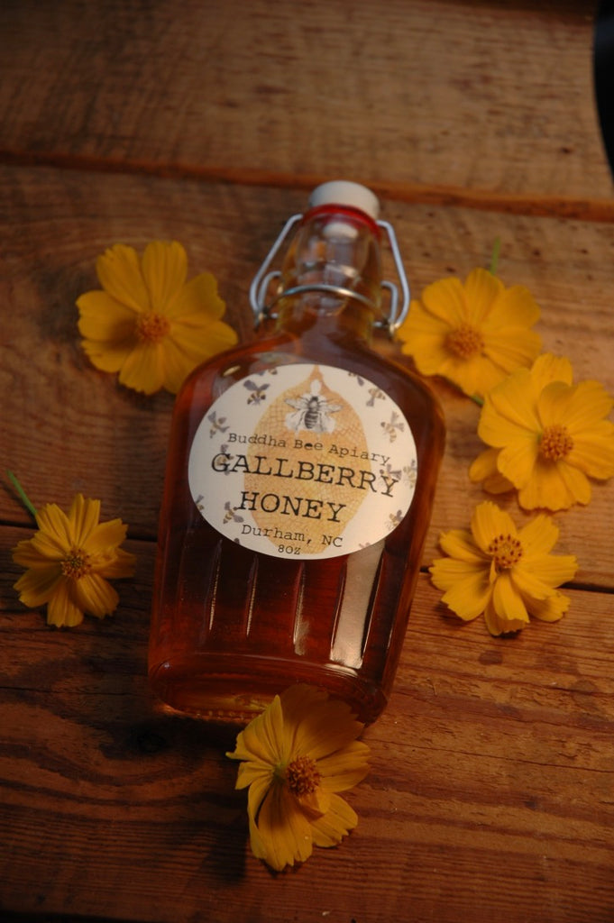 8 oz RAW Gallberry Honey - Moon.Flower.Child