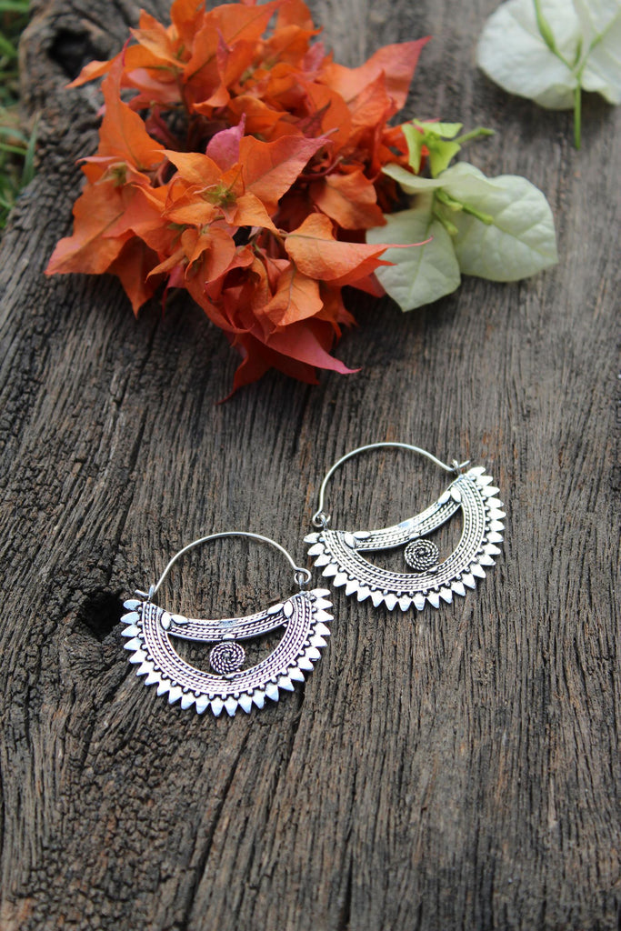 Scalloped Moon Earrings