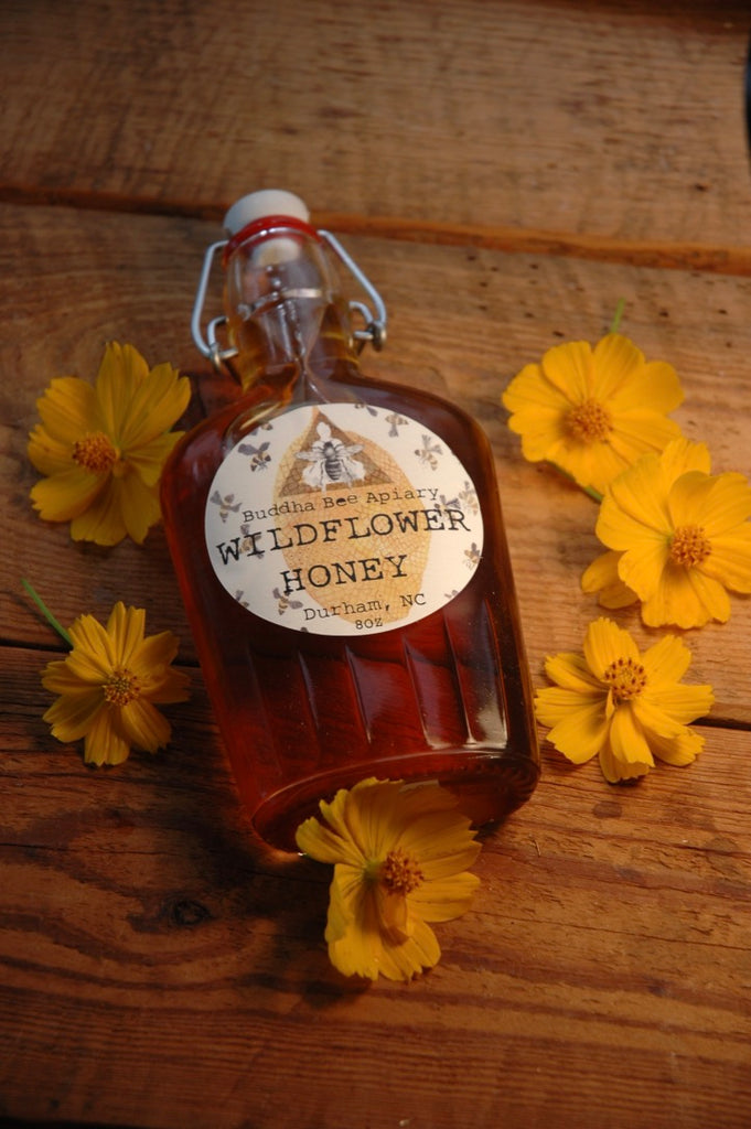 8 oz RAW Wildflower Honey - Moon.Flower.Child