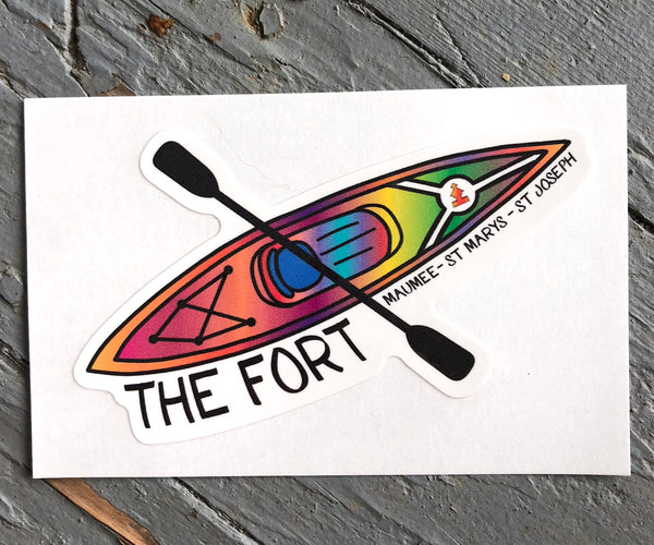 Paddle the Fort Sticker