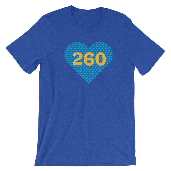 260 Heart Tee - Blue & Gold
