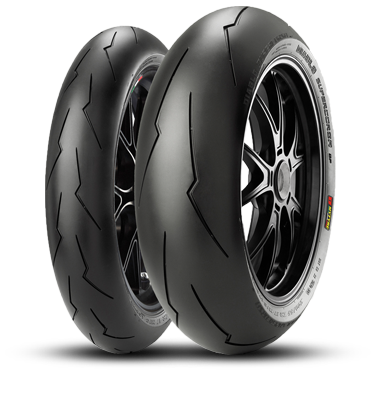 DIABLO™ SUPERCORSA SP Set includes Front 120/70ZR17