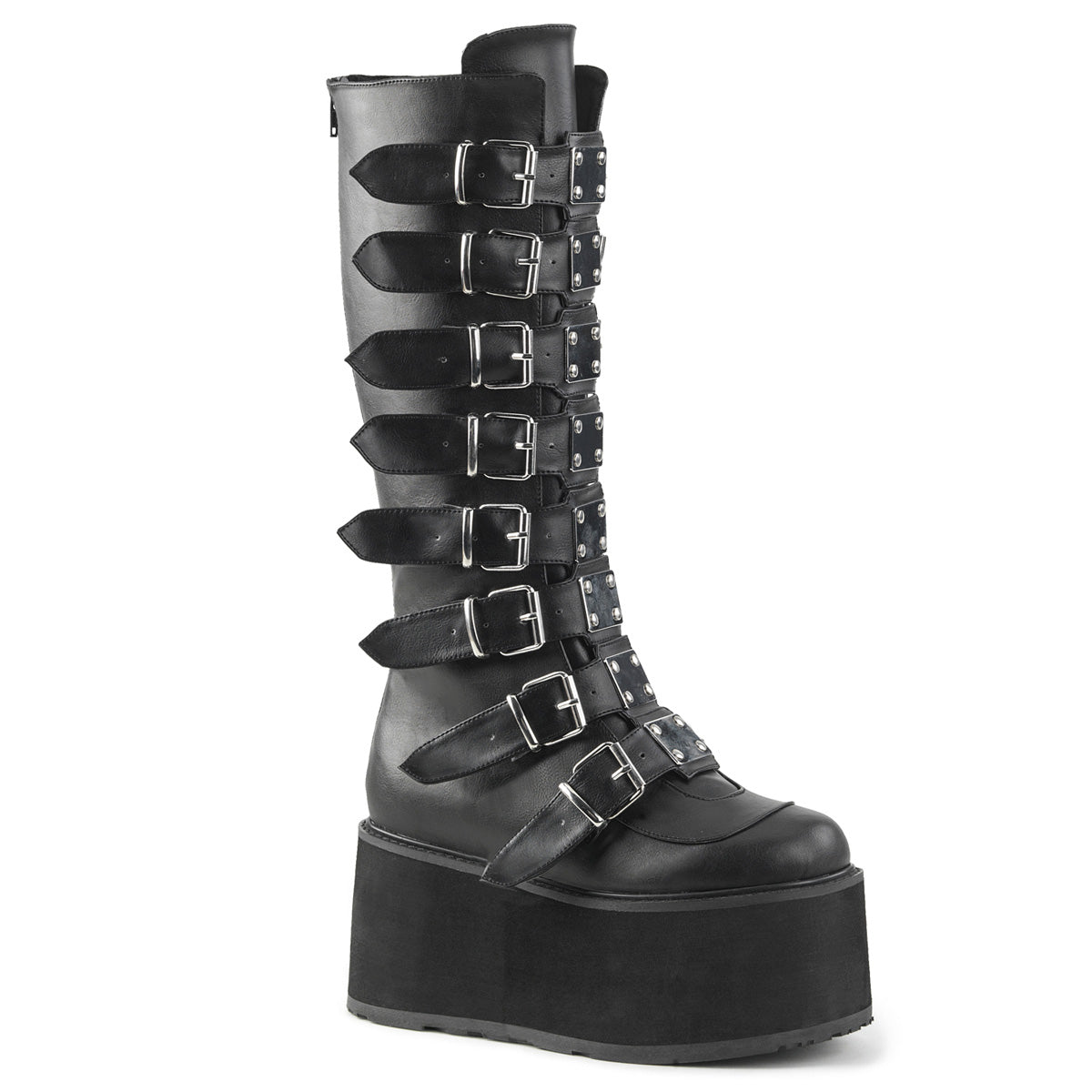 DAMNED-318 Black Vegan Leather