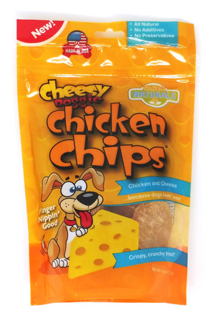 CHEESY Dog Chicken Chips 4 oz Bag - made with Natural Cheese Flavor - Hunter K9 Gear