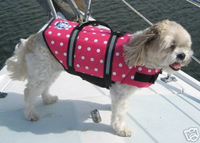 Paws Aboard Pink Polka Dot Dog Life Jacket (Fido Pet) - Hunter K9 Gear