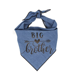 Big Brother Denim Dog Bandana - Classic Tie Style - Hunter K9 Gear