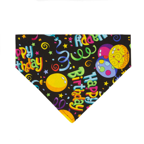 Birthday Bash Dog Bandana - Over the Collar Style in 5 Sizes | Free Ship - Hunter K9 Gear