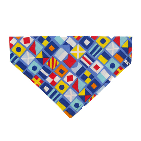 Nautical Flags Dog Bandana - Over the Collar Style in 5 Sizes | Free Ship - Hunter K9 Gear