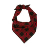 Campfire Flannel Plaid Dog Bandana - Classic Tie Style - Hunter K9 Gear
