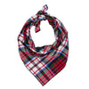 Red Tartan Flannel Plaid Dog Bandana - Classic Tie Style - Hunter K9 Gear