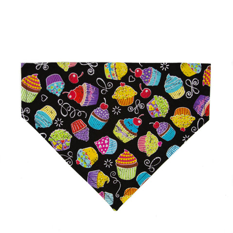Hello Cupcake! Birthday Dog Bandana - Over the Collar Style in 5 Sizes | Free Ship - Hunter K9 Gear
