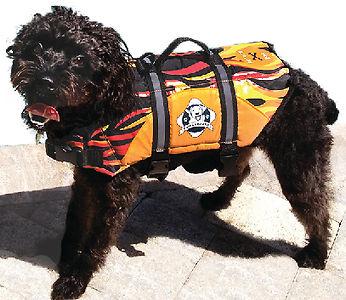 Paws Aboard Flames Nylon Pet Life Jacket with adjustable straps