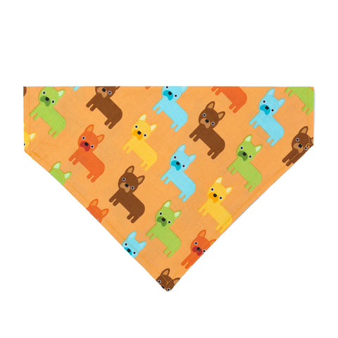 Frenchie's on Parade (french bulldog)  Dog Bandana - Over the Collar Style in 5 Sizes | Free Ship - Hunter K9 Gear