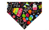 Birthday Party Dog Bandana - Over the Collar Style in 5 Sizes | Free Ship - Hunter K9 Gear