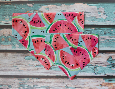 Sweet Watermelon Dog Bandana - Over the Collar Style in 5 Sizes | Free Ship - Hunter K9 Gear