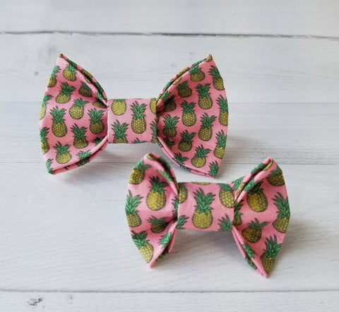 Pink Pineapple Friendship Dog Bow Tie for small to large Doggie's - Hunter K9 Gear