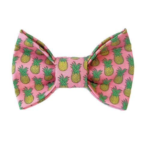 Pink Pineapple Dog Bow Tie for small to large Doggie's - Hunter K9 Gear