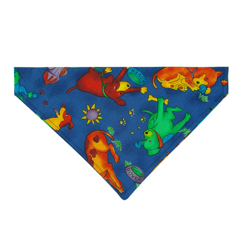 Puppy Playtime Dog Bandana - Over the Collar Style in 5 Sizes | Free Ship - Hunter K9 Gear