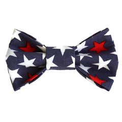 Independence Day Star Dog Bow Tie for small to large Doggie's - Hunter K9 Gear