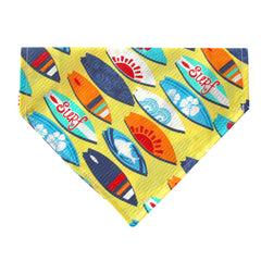 Surf's Up!  Dog Bandana - Over the Collar Style in 5 Sizes | Free Ship - Hunter K9 Gear