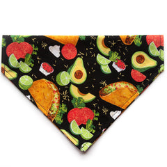 TACO Tuesday Dog Bandana - Over the Collar Style in 5 Sizes | Free Ship