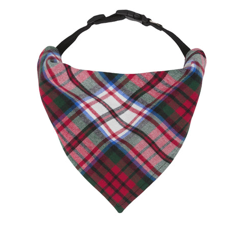 Red Tartan Plaid Flannel Soft Dog Bandana