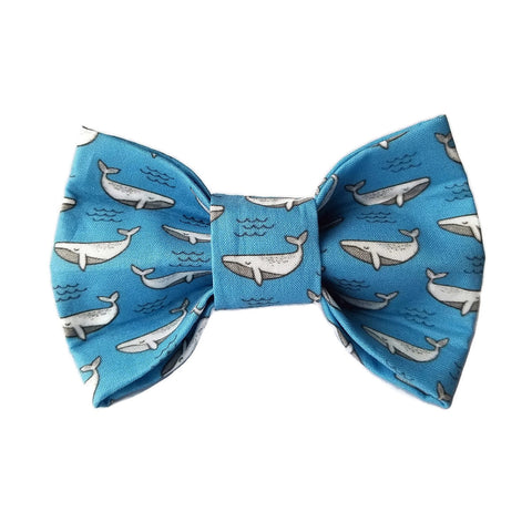 "Whale ""of a good time""  Dog Bow Tie for small to large Doggie's - Hunter K9 Gear"