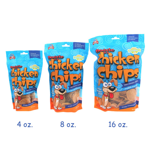 Dog Chicken Chips in 3 sizes | Made in the USA