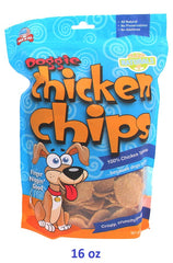Dog Doggie Chicken Chip Treats MADE in USA - 16 oz- Hunter K9 Gear