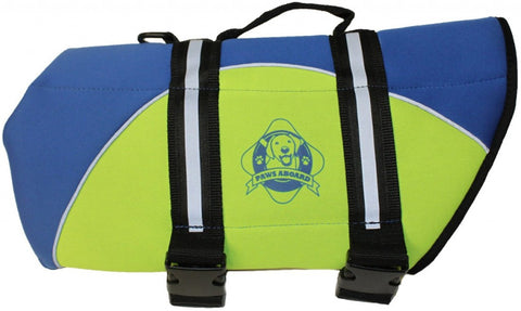 Paws Aboard Blue and Yellow Neoprene Pet Life Vest  (Fido Pet) - Hunter K9 Gear