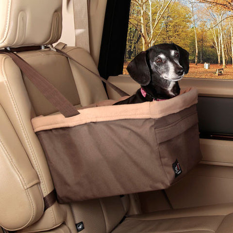 Solvit Tagalong Booster Seat - Brown - Hunter K9 Gear