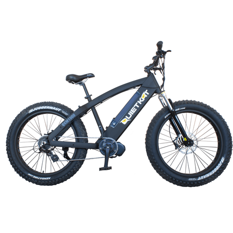 QuietKat 1000 Watt FatKat Mountain Bike - Black - Chargd Electric Bikes