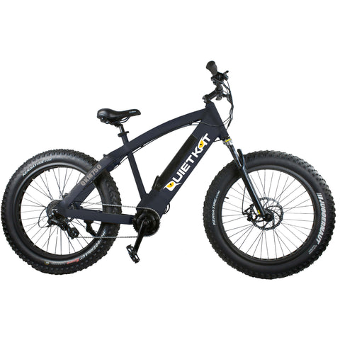 QuietKat FatKat 48V 750W Internal Motor Electric Mountain Bike - Black