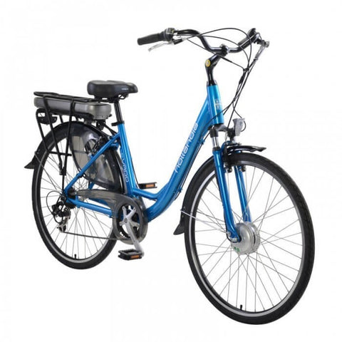 Hollandia Evado 7.18 Step-Through 700C Blue Electric Bicycle - Chargd Electric Bikes