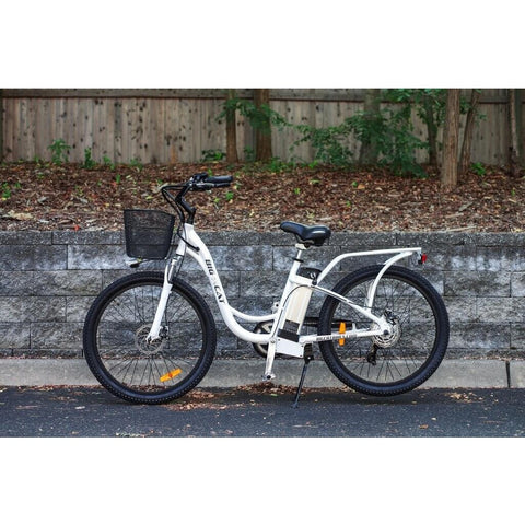 Big Cat Long Beach Cruiser 350 36V 350W Electric Bicycle - Chargd Electric Bikes