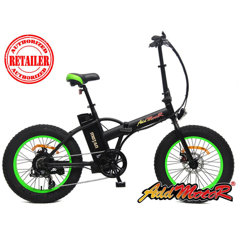 AddMotor MOTAN M-150 48V 500W Folding Fat Tire Electric Bicycle - Chargd Electric Bikes