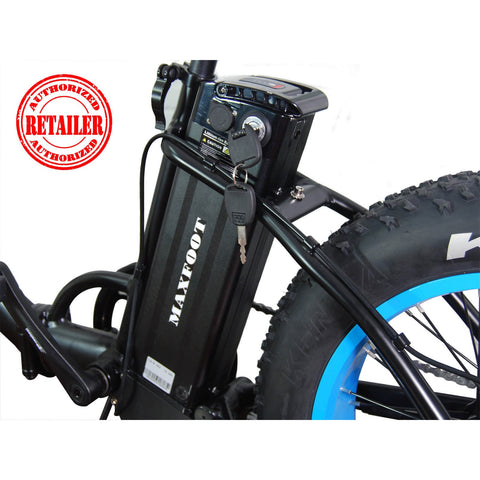 AddMotor MaxFoot 48V 500W Folding Fat Tire Electric Bike - Chargd Electric Bikes