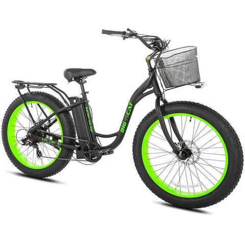 Big Cat Long Beach Cruiser XL 500 48V 350W Electric Bicycle - Chargd Electric Bikes