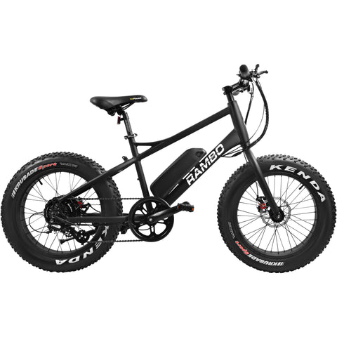 Rambo R350JR 36V 350W Matte Black Fat Tire Power Electric Bicycle