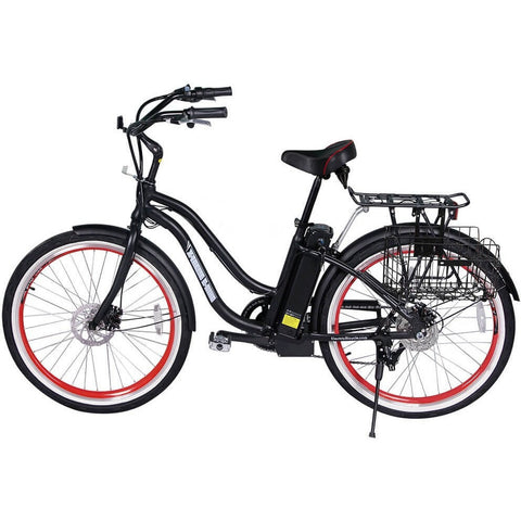 X-Treme Malibu Elite Beach Cruiser Step-Through Electric Bicycle - Chargd Electric Bikes