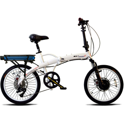 ProdecoTech Mariner 8 v5F Folding 36V 300W 8 Speed Electric Bicycle - Chargd Electric Bikes