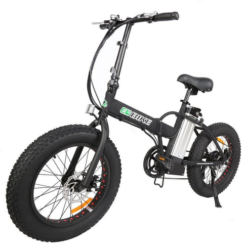 E-Go Bike Electric Folding Fat Tire Bicycle 36V 350W - Chargd Electric Bikes