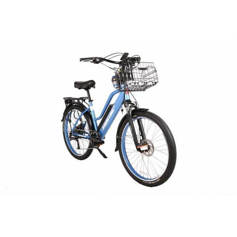 X-Treme Catalina 48V Blue Front Right Angle - Chargd Electric Bikes