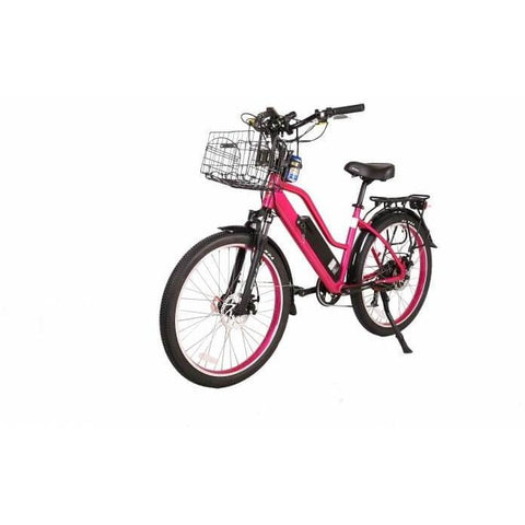 X-Treme Catalina 48V Pink Front Left Angle - Chargd Electric Bikes