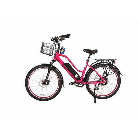 X-Treme Catalina 48V Pink Left Side - Chargd Electric Bikes