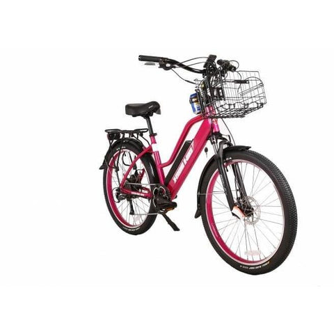 X-Treme Catalina 48V Pink Front Right Angle - Chargd Electric Bikes