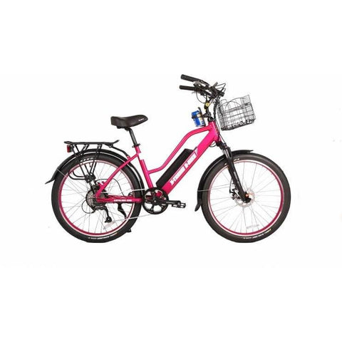 X-Treme Catalina 48V Pink Right Side - Chargd Electric Bikes