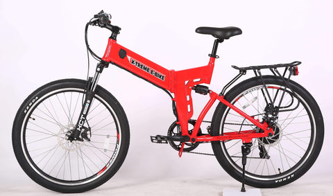X-Treme X-Cursion Elite Red Side View - Chargd Electric Bikes
