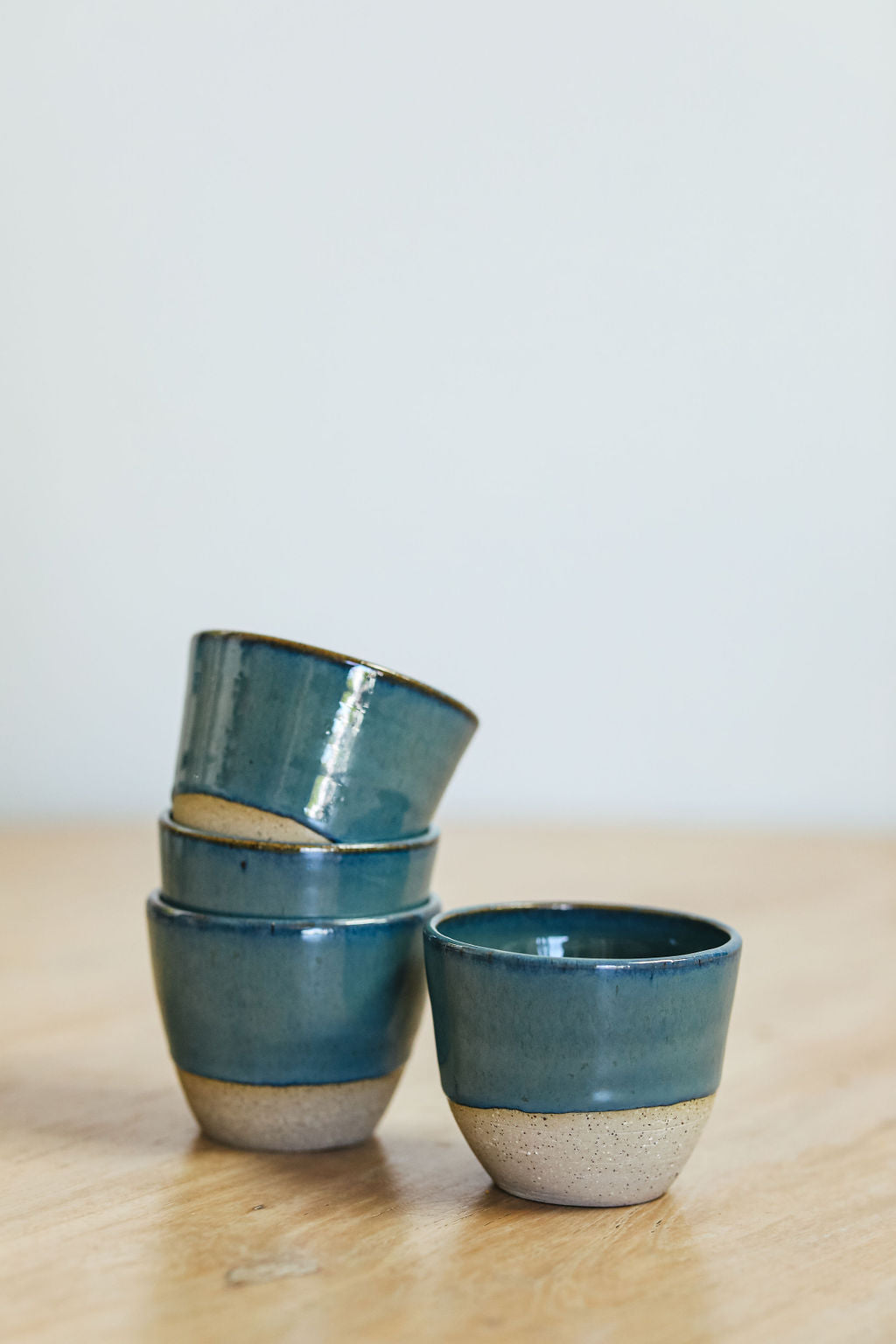 Teal Blue Espresso Cups